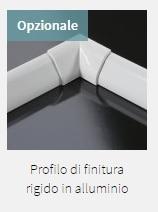 Profilo di finitura rigido il alluminio