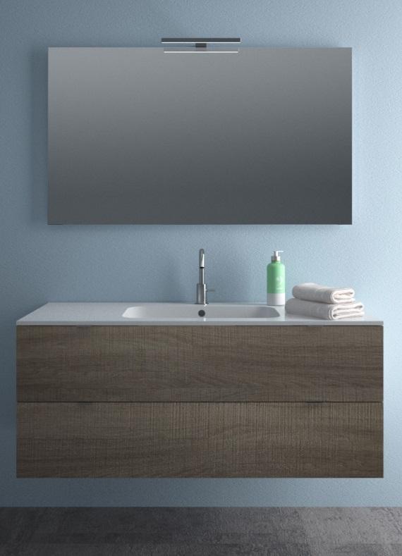Andrè cm 120 lavabo in mineralmarmo