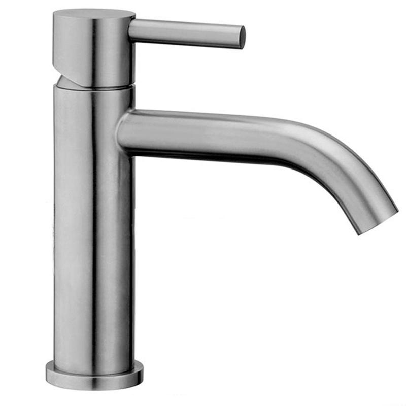 Miscelatore Steel071cr Paffoni in acciaio inox per lavabo