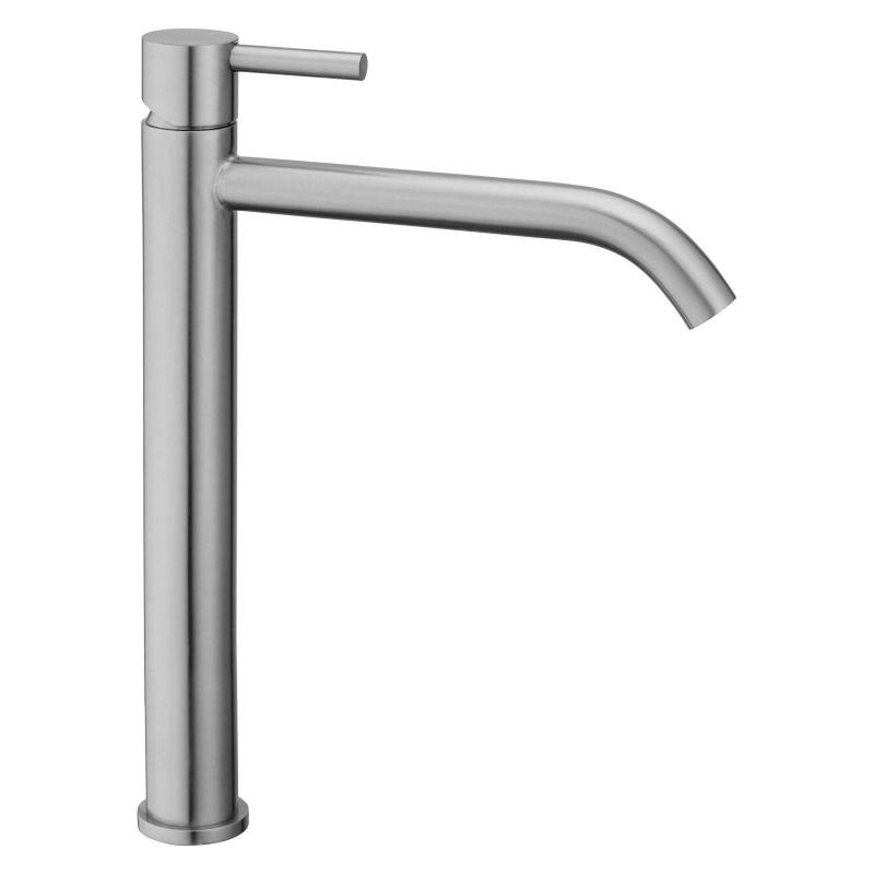 Miscelatore Steel081ac Paffoni in acciaio inox per lavabo appoggio